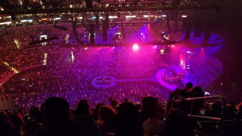 Seating view for Staples Center Section 301 Row 14 Seat 2