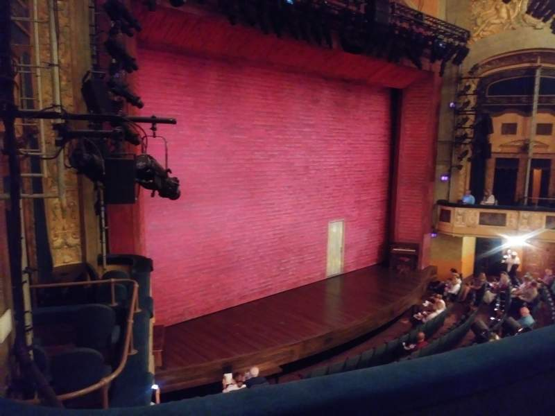 Seating view for Shubert theatre Section mezzanine l Row C Seat 25