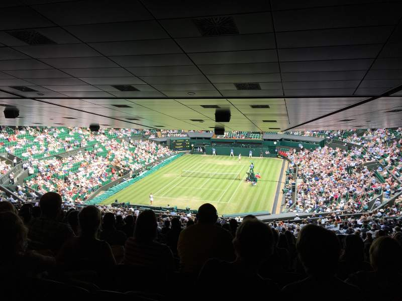 Seating view for Wimbledon, Centre Court Section 510 Row ZE Seat 186