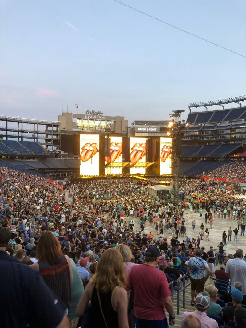 Seating view for Gillette Stadium Section 103 Row 32 Seat 20