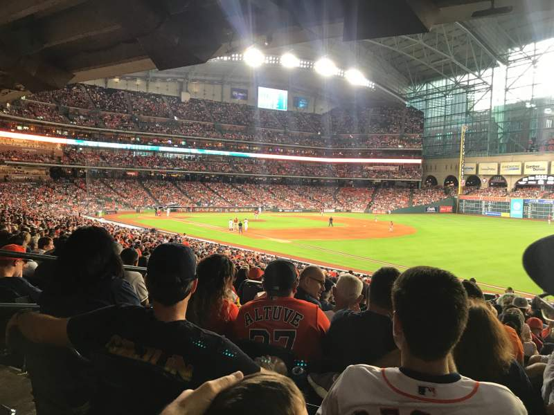 Seating view for Minute Maid Park Section 132 Row 38 Seat 5