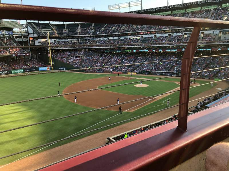 Seating view for Globe Life Park in Arlington Section 214 Row 1 Seat 7