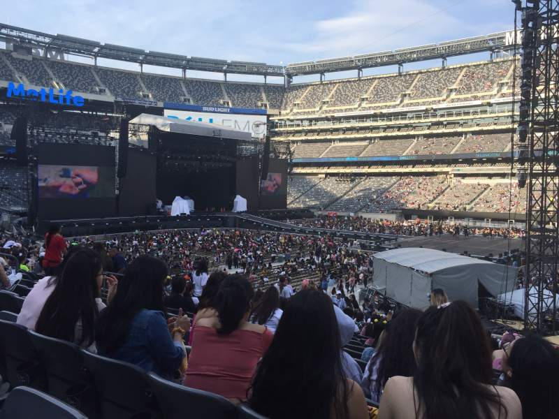 Seating view for MetLife Stadium Section 135 Row 27 Seat 16