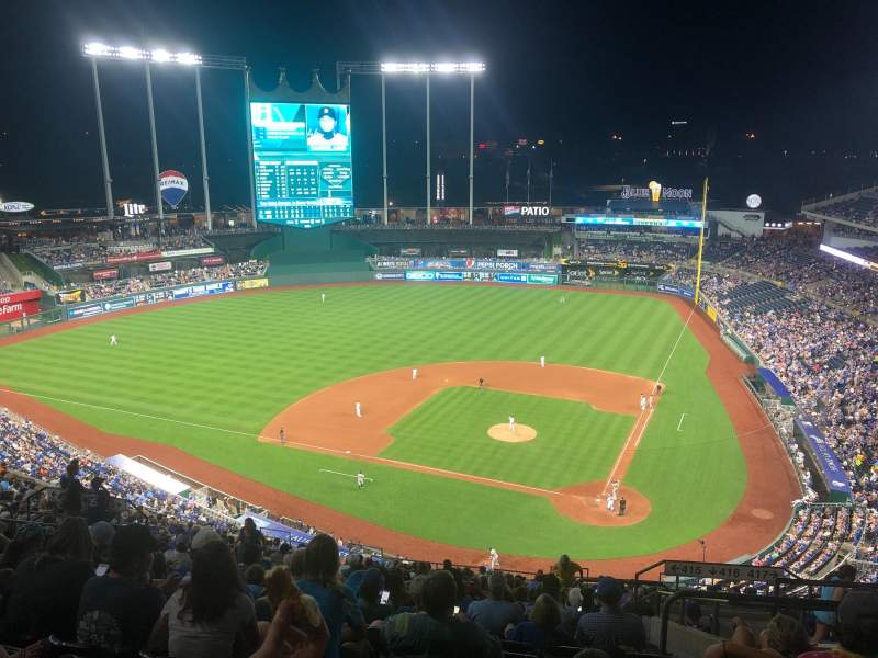 Seating view for Kauffman Stadium Section 415 Row GG Seat 20