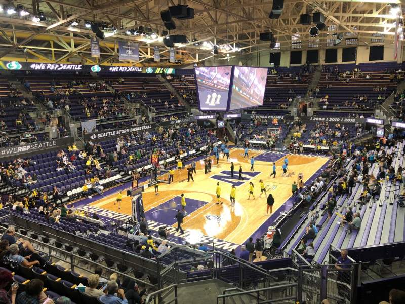 Seating view for Alaska Airlines Arena at Hec Edmundson Pavilion Section 3 Row 22 Seat 30