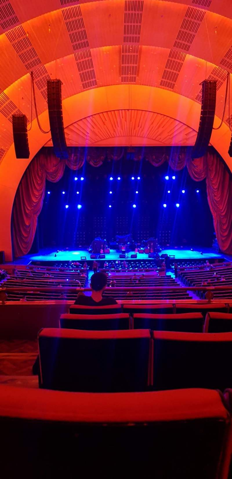 Seating view for Radio City Music Hall Section 1st mezzanine 4 Row E Seat 413
