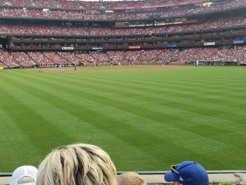 Seating view for Busch Stadium Section 193 Row 3 Seat 9, 10