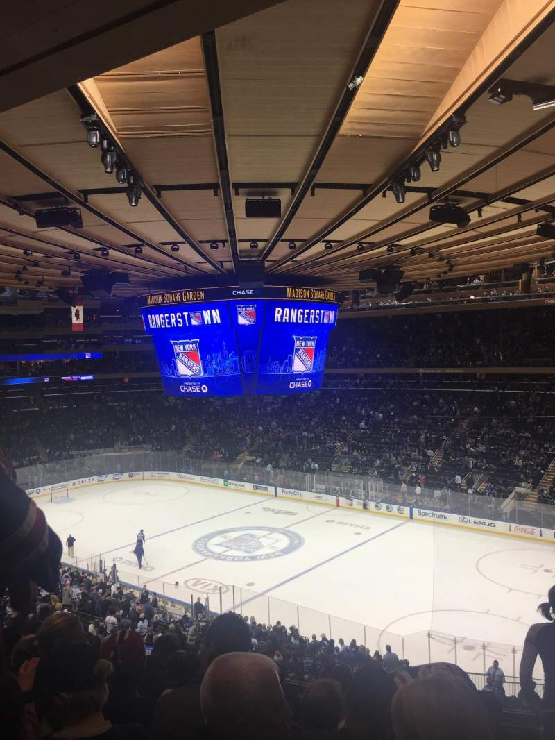 Seating view for Madison Square Garden Section 214 Row 7 Seat 9