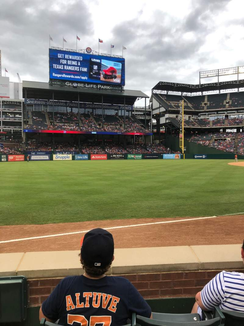 Seating view for Globe Life Park in Arlington Section 14 Row 3 Seat 1