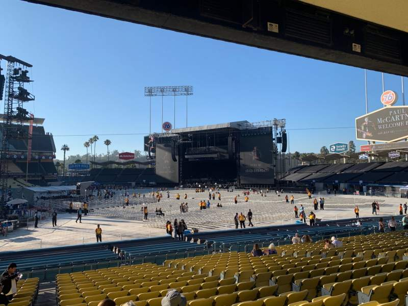 Seating view for Dodger Stadium Section 22FD Row U Seat 1