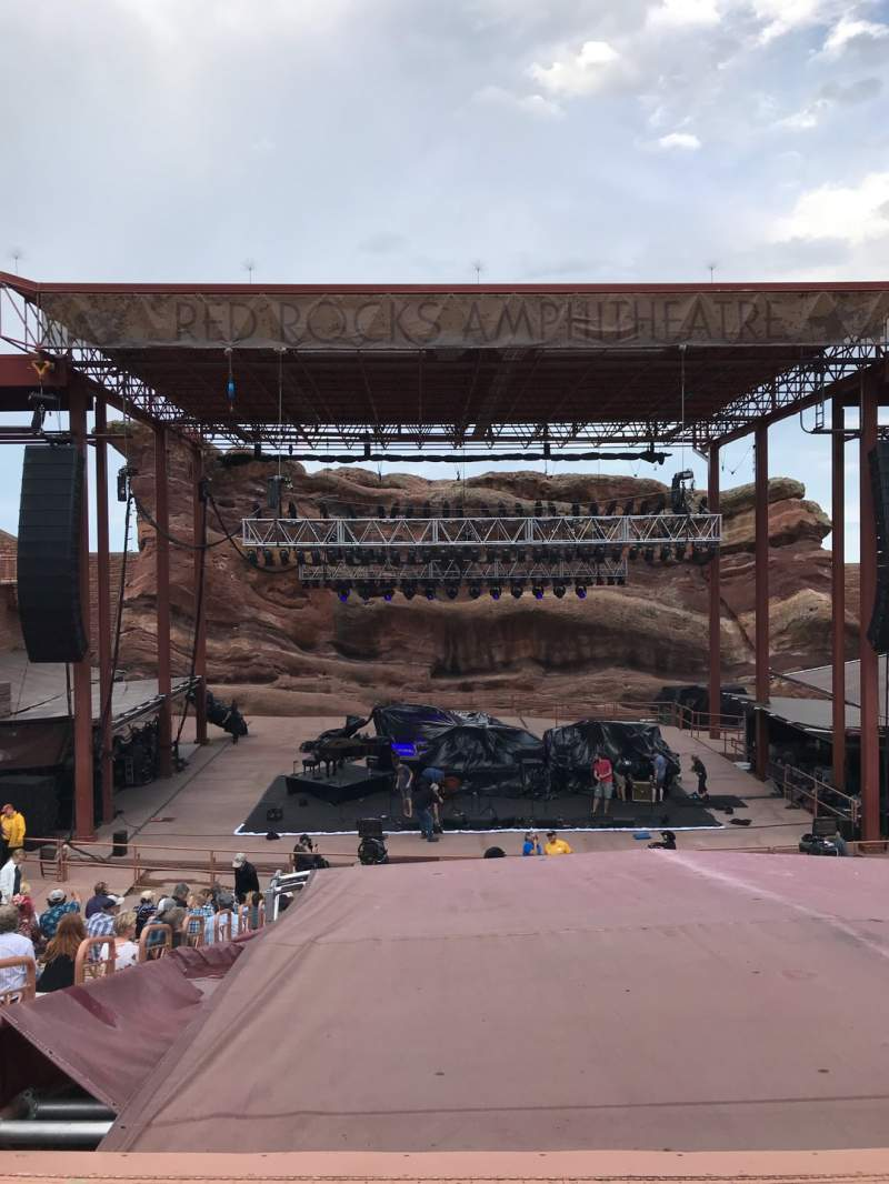Seating view for Red Rocks Amphitheatre Section Center Row 17 Seat 65
