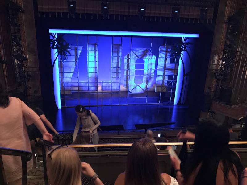 Seating view for Nederlander Theatre Section Mezzanine C Row J Seat 115
