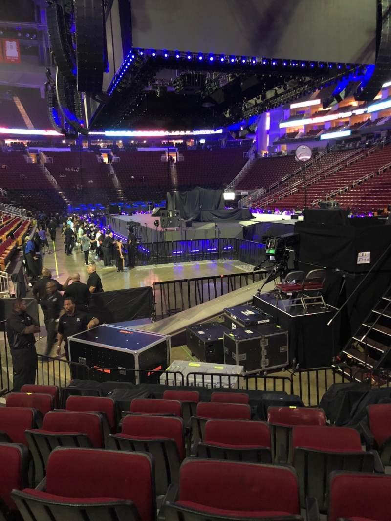 Seating view for Toyota Center Section 102 Row 10 Seat 6