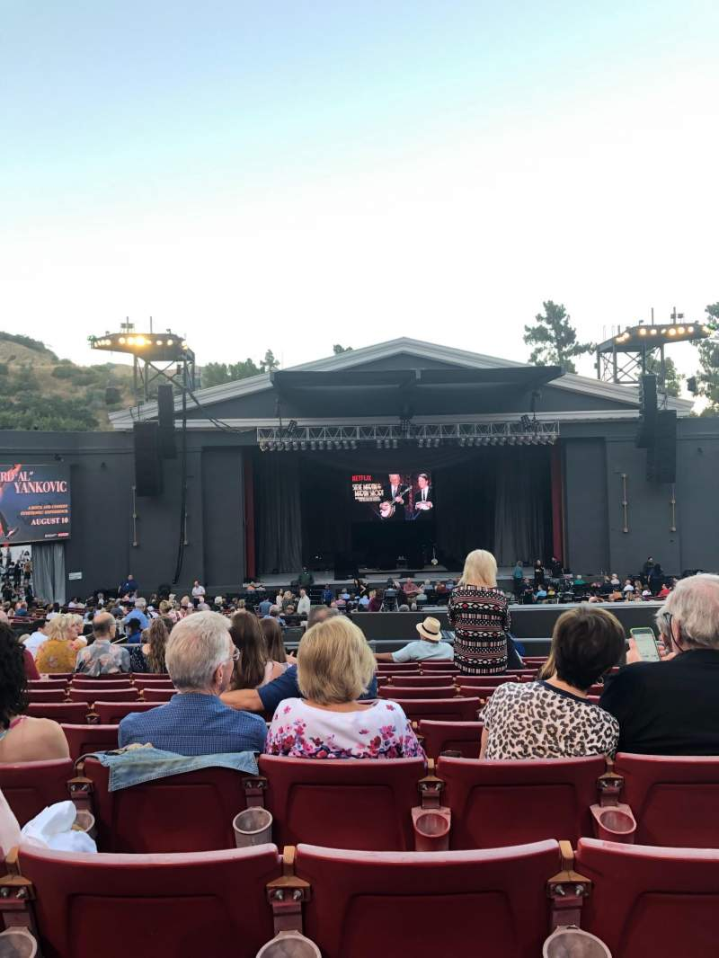 Seating view for The Greek Theatre Section B Left Center Row L Seat 113