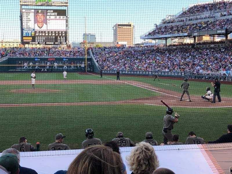 Seating view for TD Ameritrade Park Section 116 Row 11 Seat 7