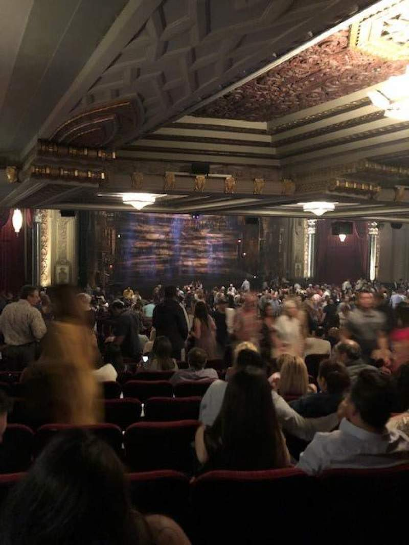 Seating view for Hollywood Pantages Theatre Section Orchestra L Row ZZ Seat 13