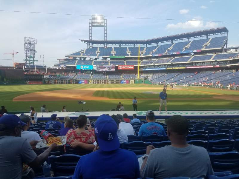 Seating view for Citizens bank park  Section 131 Row 14 Seat 6
