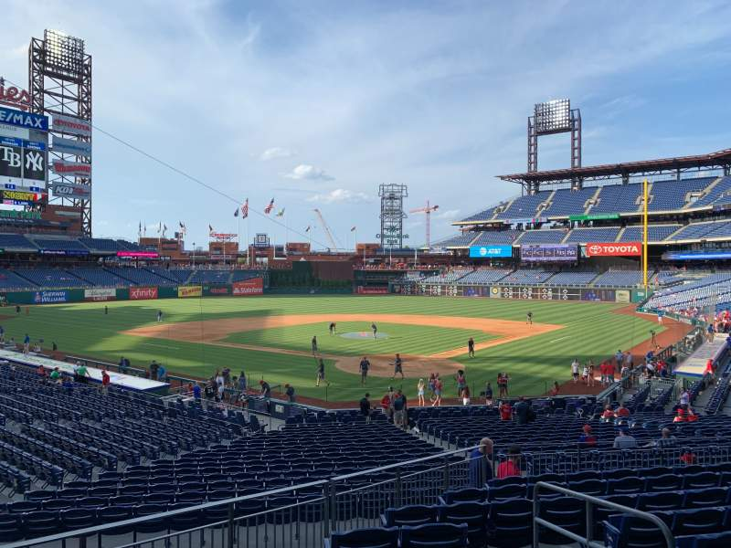 Seating view for Citizens Bank Park Section 125 Row 30 Seat 4