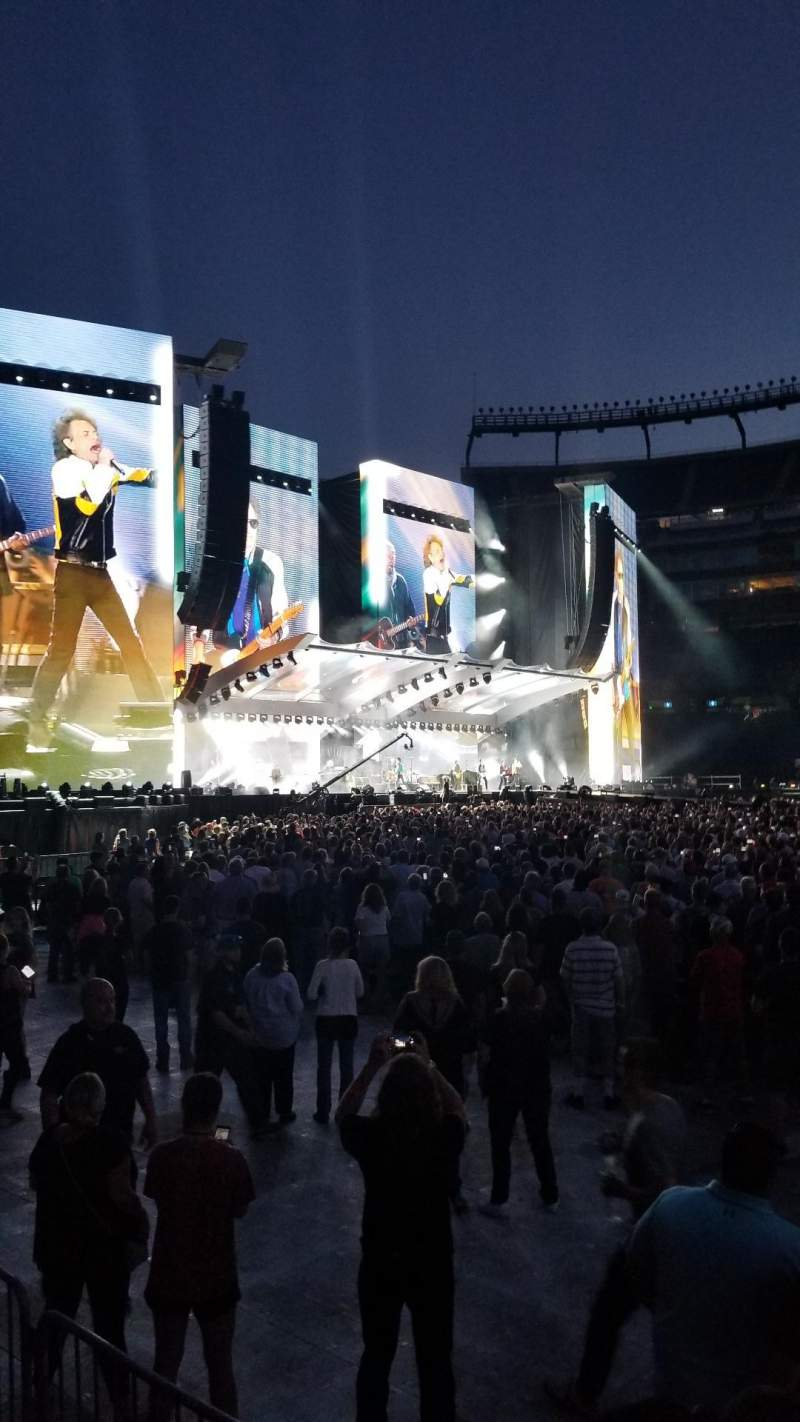 Seating view for Gillette Stadium Section 110 Row 1 Seat 5