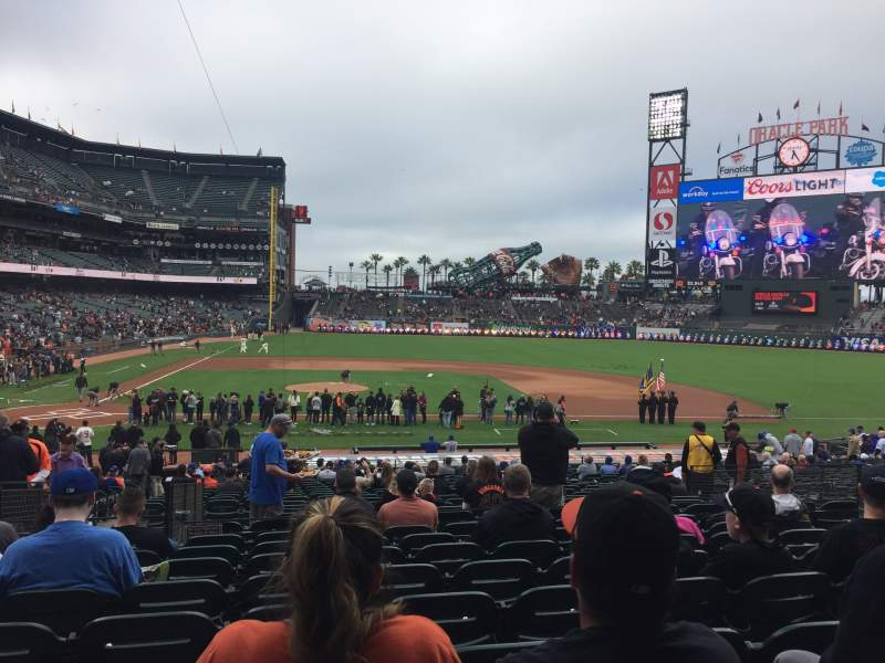 Seating view for Oracle Park Section 109 Row 31 Seat 9