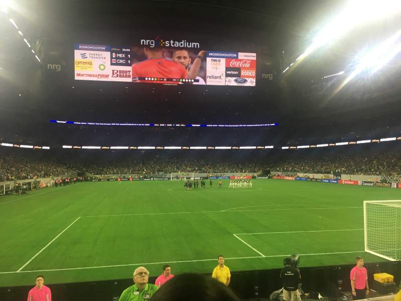Seating view for NRG Stadium Section 138 Row G Seat 3