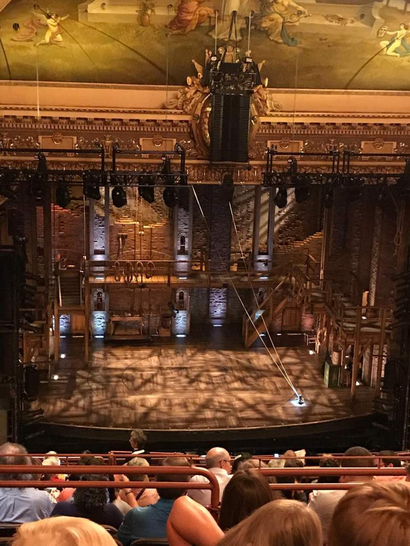 Seating view for Hippodrome Theatre Section Center Upper Balcony Row Q Seat 301