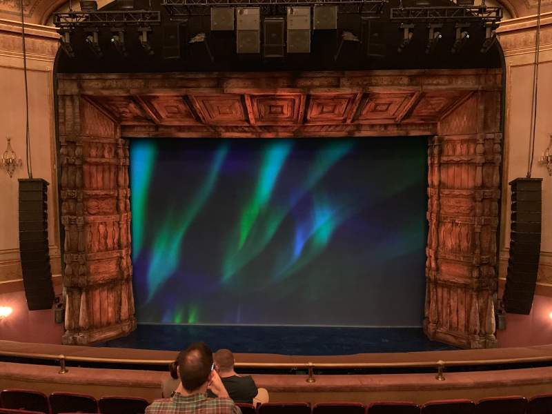 Seating view for St. James Theatre Section Mezzanine C Row F Seat 107