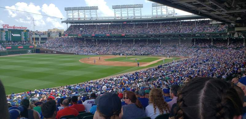 Seating view for Wrigley Field Section 204 Row 20 Seat 5