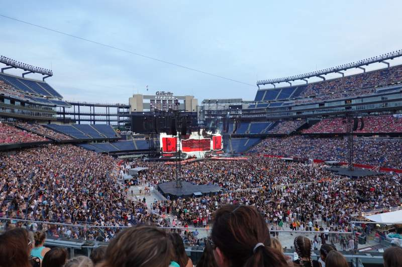 Seating view for Gillette Stadium Section 202 Row 5 Seat 3-4