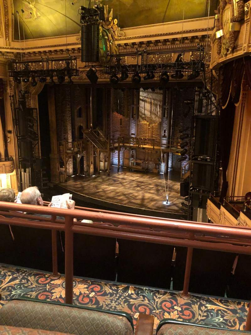 Seating view for Hippodrome Theatre Section Right Middle Balcony Row E Seat 216