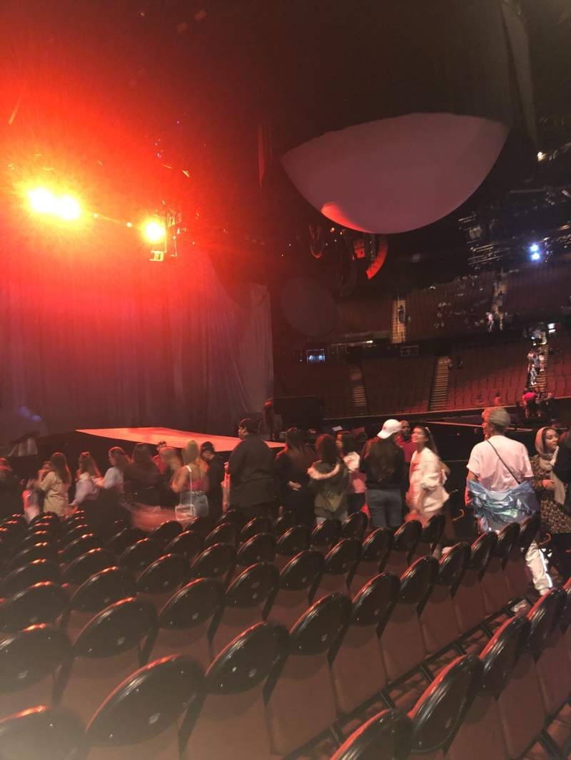 Seating view for The Forum Section A Row 12 Seat 1and2