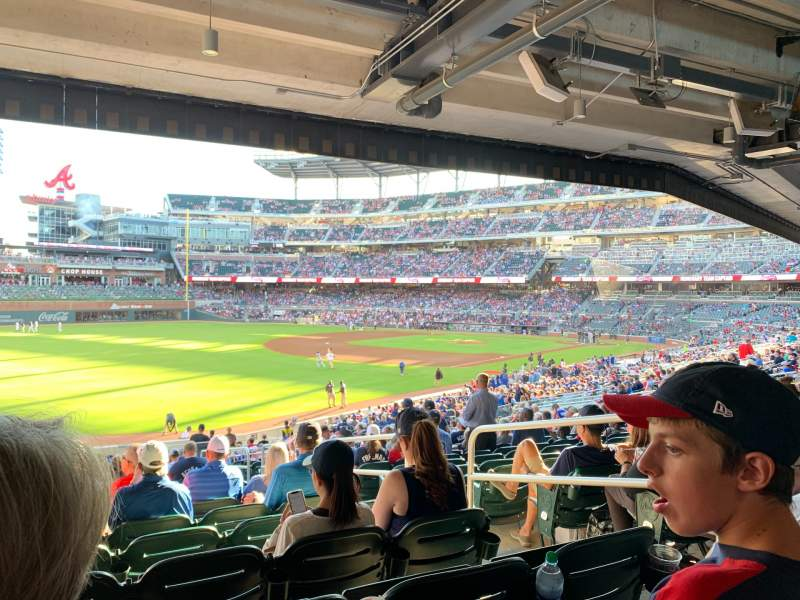 Seating view for Truist Park Section 141 Row 17 Seat 4
