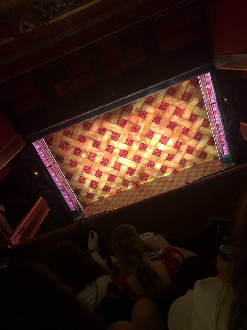 Seating view for Adelphi Theatre Section upper circle Row d Seat 17