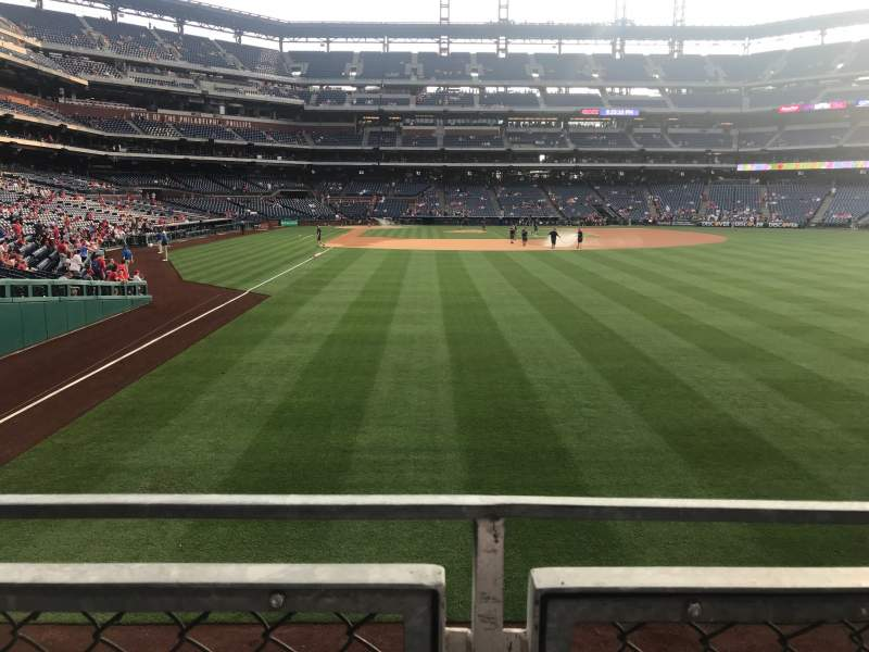 Seating view for Citizens Bank Park Section 106 Row 1 Seat 7