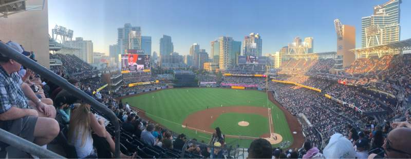 Seating view for PETCO Park Section 308 Row 19 Seat 16