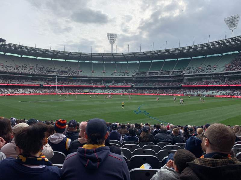 Seating view for Melbourne Cricket Ground Section M11 Row V Seat 11