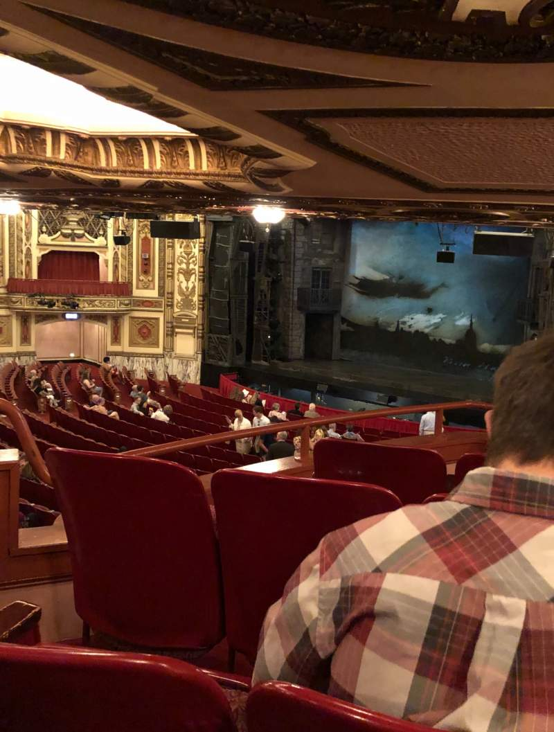 Seating view for Cadillac Palace Theater Section Dress Circle FR Row M Seat 22