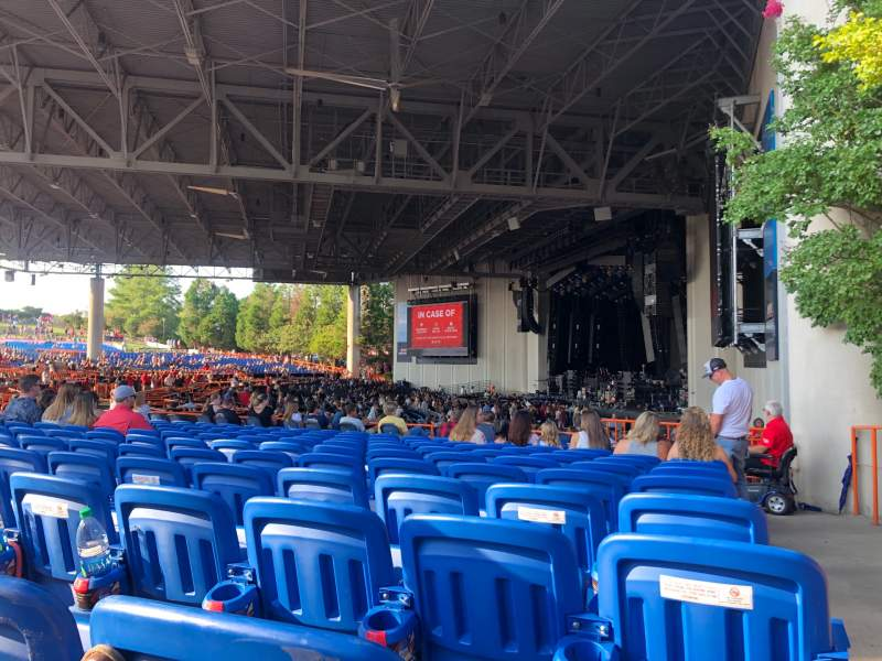 Seating view for PNC Music Pavilion Section 4 Row N Seat 1