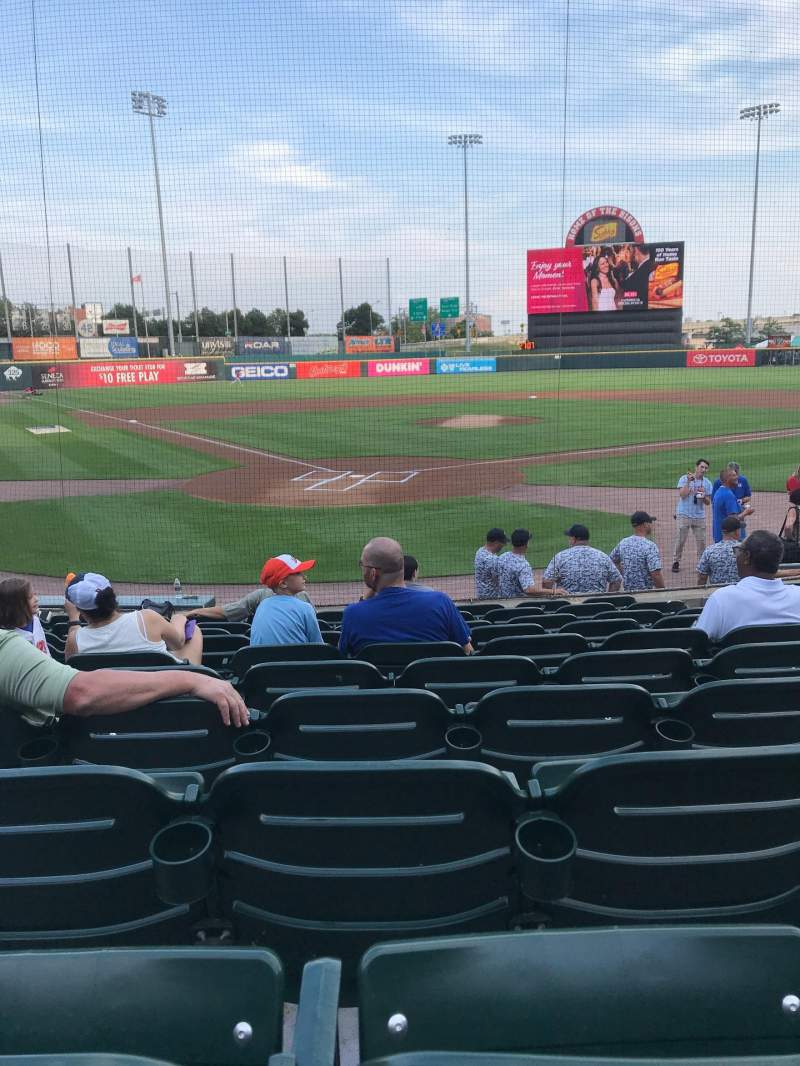 Seating view for Sahlen Field Section 102 Row J Seat 6