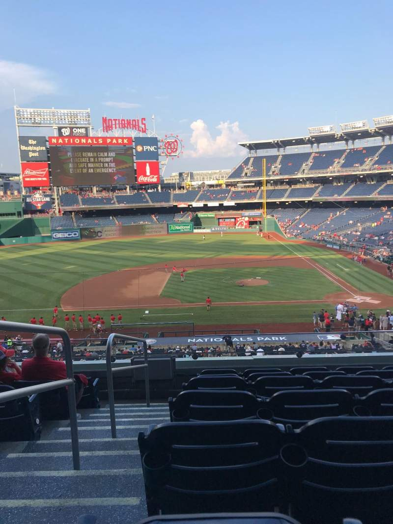 Seating view for Nationals Park Section 209 Row G Seat 23