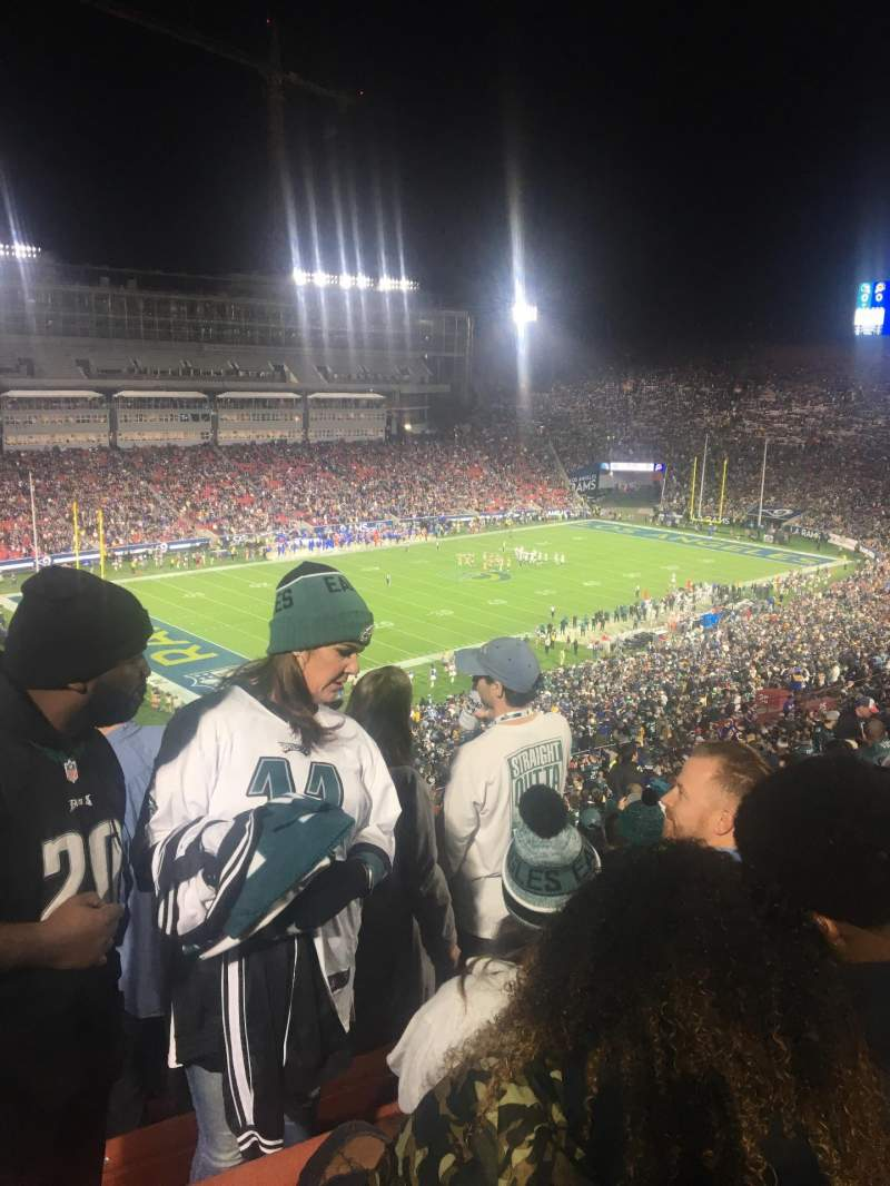Seating view for Los Angeles Memorial Coliseum Section 321 Row 17 Seat 4 and 5