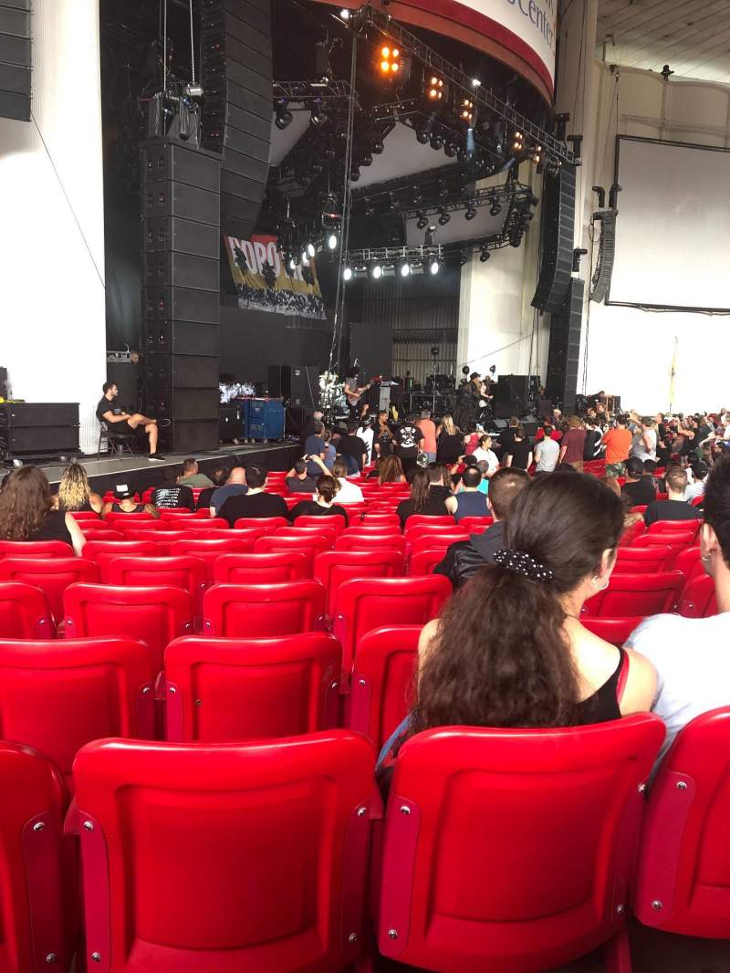 Seating view for PNC Bank Arts Center Section 104 Row T Seat 31