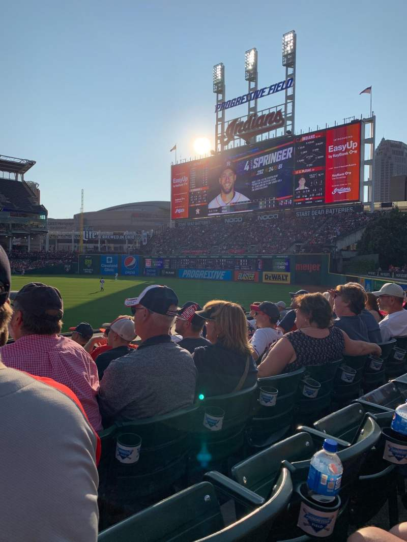 Seating view for Progressive Field Section 113 Row G Seat 17