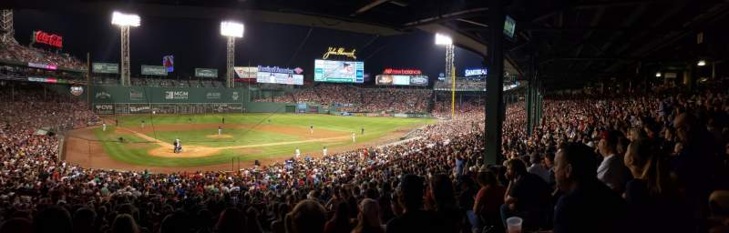 Seating view for Fenway Park Section Grandstand 19 Row 10 Seat 6