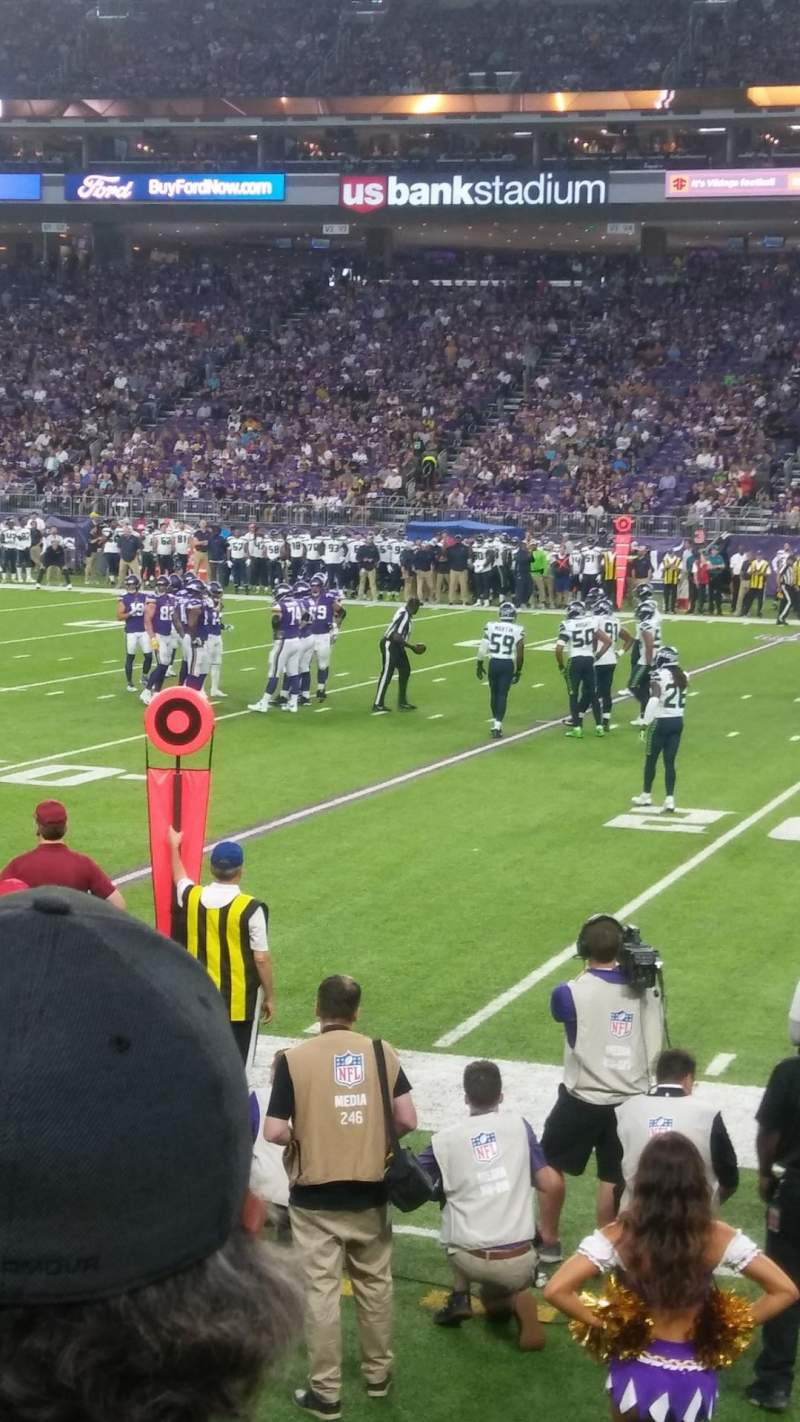 Seating view for U.S. Bank Stadium Section 129 Row 3