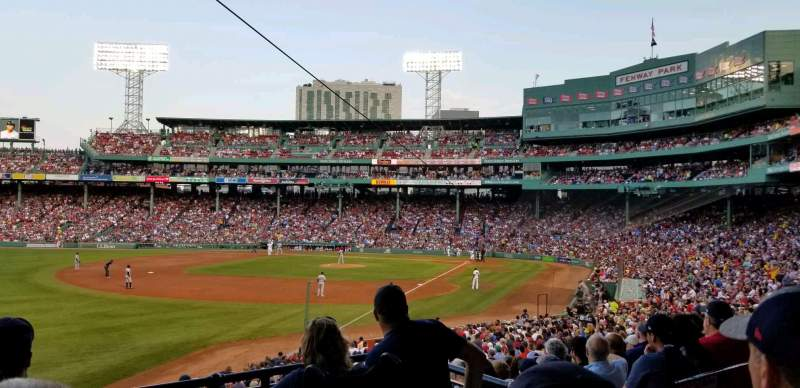 Seating view for FENWAY PARK Section Grandstand 32 Row 3 Seat 4