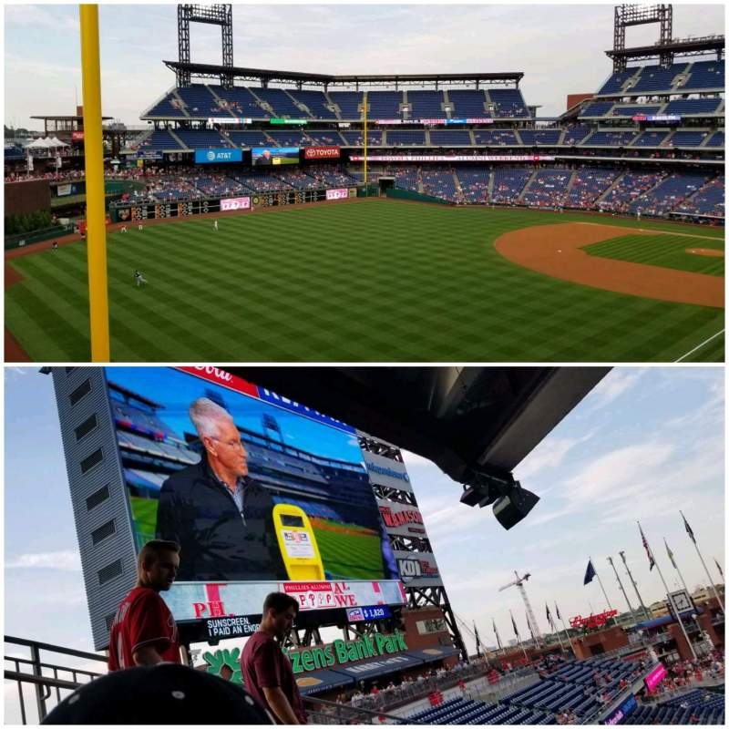 Seating view for Citizens Bank Park Section 237 Row 9 Seat 1