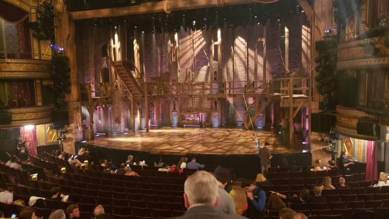 Seating view for Richard Rodgers Theatre Section Orchestra R Row Q Seat 6