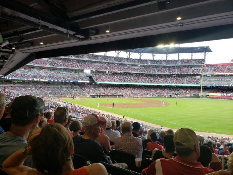 Seating view for SunTrust Park Section 111 Row 17 Seat 13