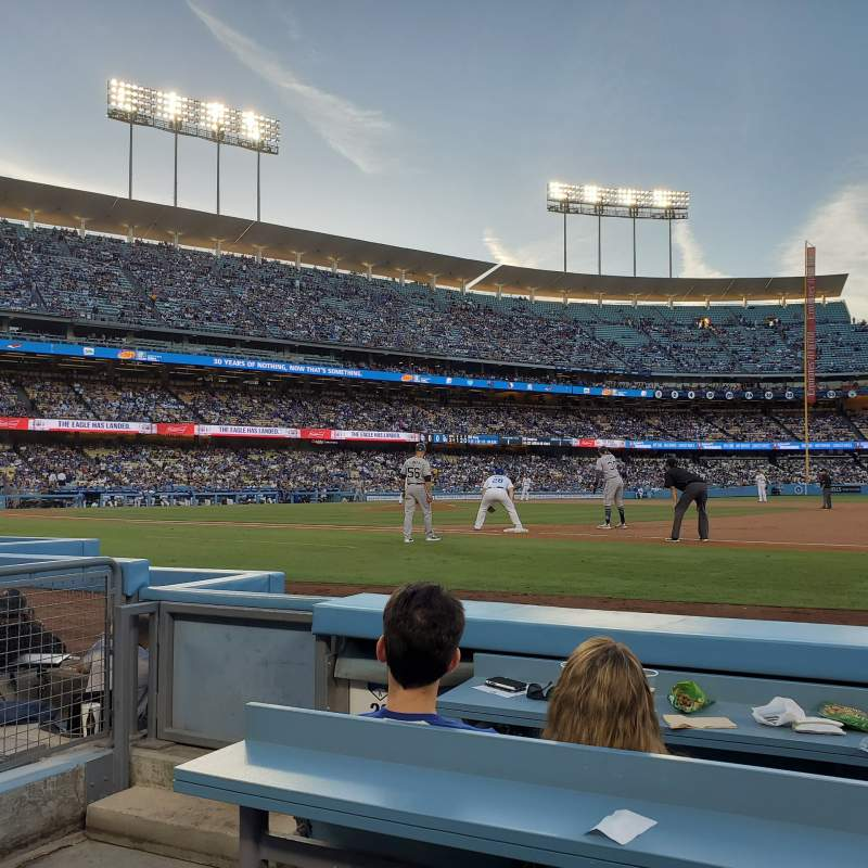 Seating view for Dodger Stadium  Section 26BL Row 3 Seat 1
